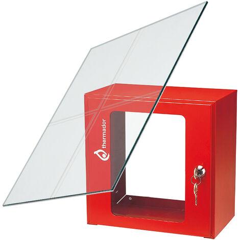 Vitre de rechange 144x184 mm pour coffret sous verre dormant - Thermador