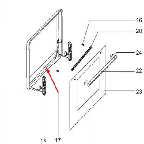 Vitre interieure de contre porte cb3e01424 pour four - Vitre pour porte interieure ...