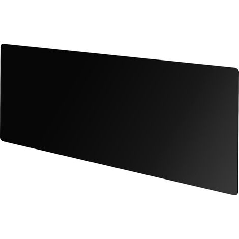 Vitreo Large Radiator Cover in Black Glass, 1600mm