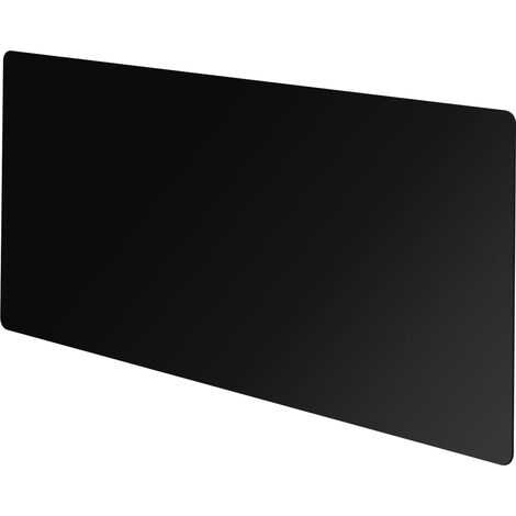 Vitreo Medium Radiator Cover in Black Glass, 1200mm