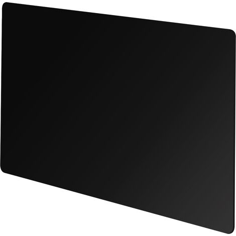 """main image of """"Vitreo Small Radiator Cover in Black Glass, 900mm"""""""