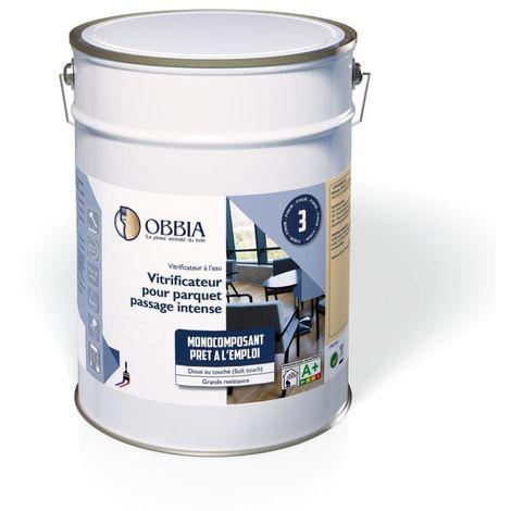 Vitrificateur à l'eau 1L Satiné OBBIA pour parquet passage intense - OVCL1ST