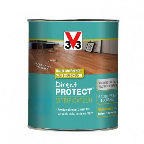 Vitrificateur Direct Protect destiné aux parquets 0,75L (teinte au choix) V33 - plusieurs modèles disponibles