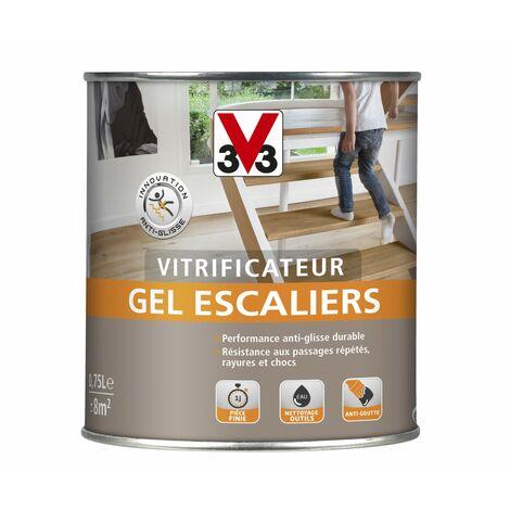 Vitrificateur gel escalier V33, incolore satiné, 0.75 l