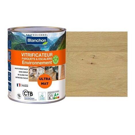 Vitrificateur parquet environnement, incolore mat, bidon de 1 litre