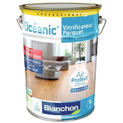 Vitrificateur parquet Océanic Air Protect, finition satiné, bidon de 1 litre