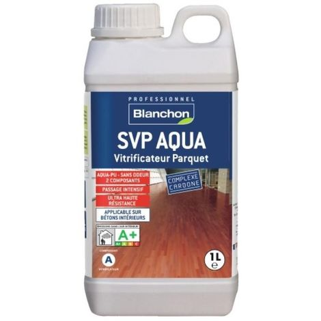 Vitrificateur parquet SVP Aqua-polyuréthane, trafic intense, kit de 2 composants 0,9l et 0,1l finition bois brut