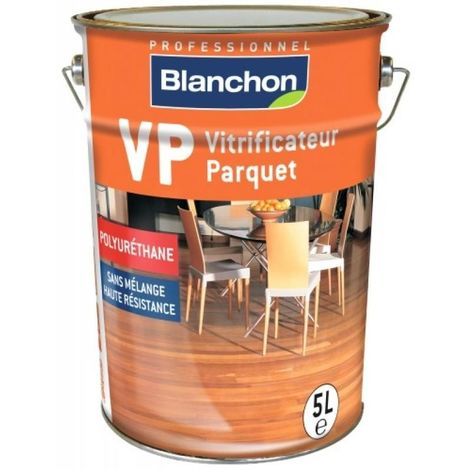 Vitrificateur parquet VP mono-composant à base de résine polyuréthane, souple et résistant, finition cire naturelle 5l