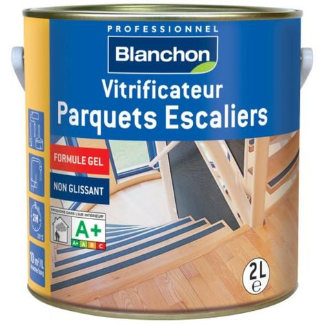 Vitrificateur Parquets Escaliers Aqua-Polyuréthane formule gel finition satiné bidon de 1 litre