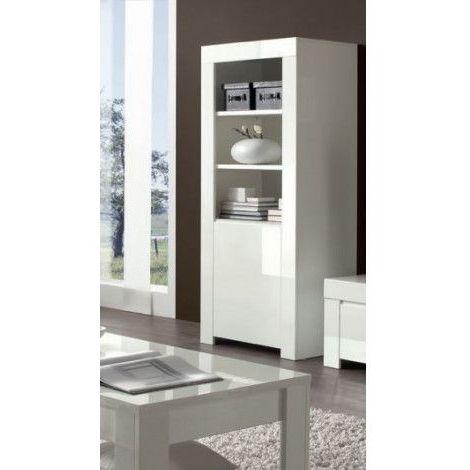 Vitrine colonne LAZARRO 70x170 cm - Blanc
