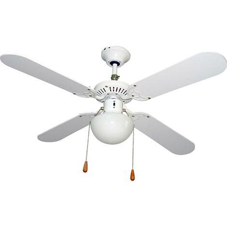 Vivahogar Vh99272 Ventilateur de plafond pour climatisation avec lumi�re 50W-3 vitesse 4 pales 105Cm