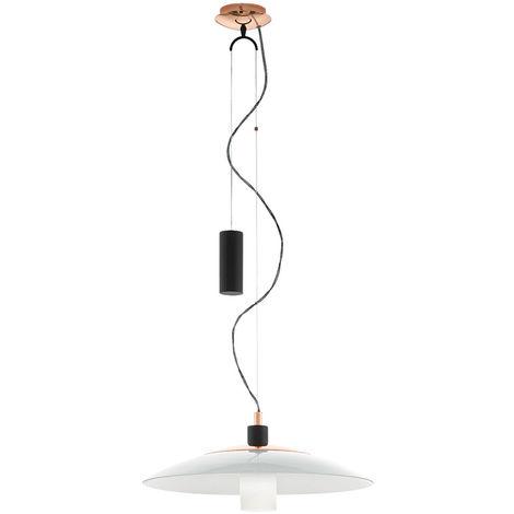 vivant lumière plafond suspendu radiateur en verre salle à manger lampe pendentif en cuivre réglable en hauteur Eglo95464