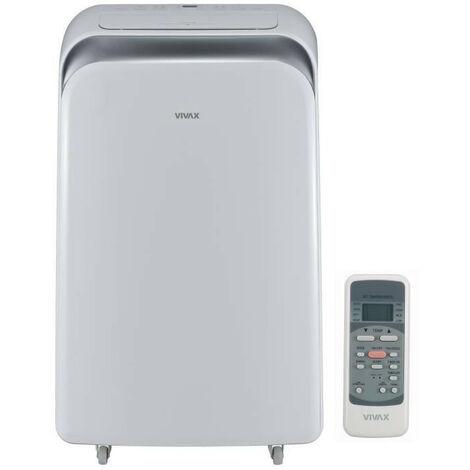 VIVAX ACP12PT35AEF Climatiseur mobile 3500 watts - 12000 Btu - Minuteur - Telecommande - Classe A - Debit : 370 m3/h