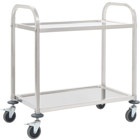 Vivienne Kitchen Trolley by Symple Stuff - Silver