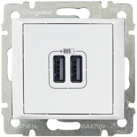 VL-BASE USB A+A 2,4A/5V BLAN LEGRAND 770470