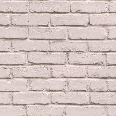 Vliestapete Steinoptik Rosa Creme 358563| 10.05 x 0.53 Meter BEAUTIFUL WALLS | Backsteintapete