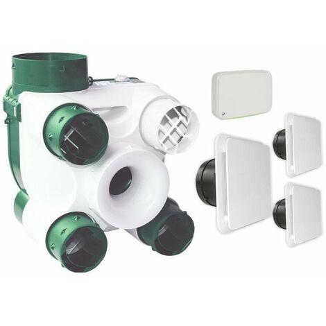 VMC à sondes hygrométriques Unelvent - Gestionnaire de qualité d'air - VMC simple flux - Jusqu'à 4 sanitaires - Unelvent