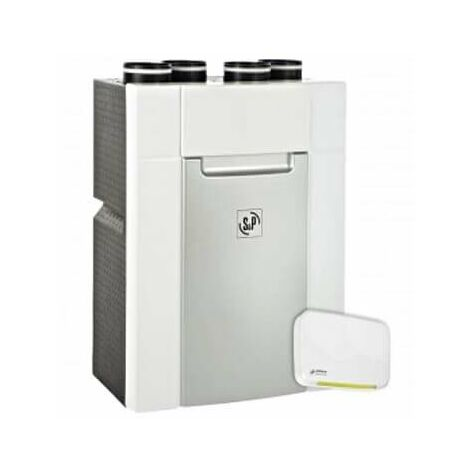 VMC Double Flux DOMEO SERENITE - 18W-Th-C - 27dB(A) - 4 sanitaires