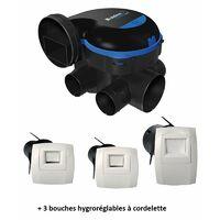 VMC simple flux hygroréglable EasyHOME HYGRO PREMIUM MW