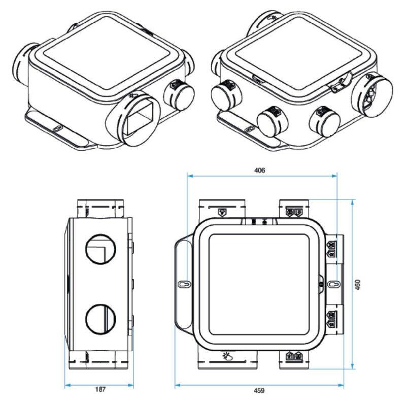 Vmc Simple Flux Autor/églable Compact - Ref : 11026101 Extra-Plat Aldes