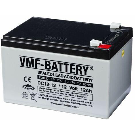 VMF Batterie AMG à décharge profonde 12 V 12 Ah DC12-12