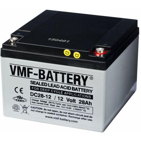 VMF Batterie AMG à décharge profonde 12 V 28 Ah DC28-12