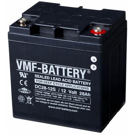 VMF Batterie AMG à décharge profonde 12 V 28 Ah DC28-12S