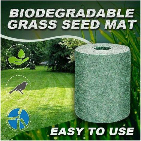 Vobery Green Grass Mat, Grass Seed Mat Engrais Garden Pique-nique Jardin Pelouse Plantation Mat Grass Mat Meadow Terrain Mat, Flower Meadow (20 × 300cm, 1 Pcs)