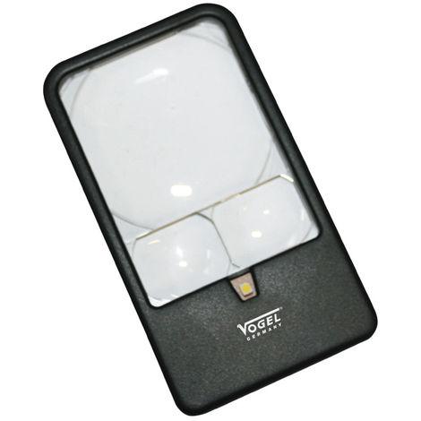 """main image of """"VOGEL 601230 - Lupa de bolsillo con LED - Aumento X3 / X5 / X7"""""""