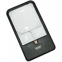 Vogel 601230 - Lupa de bolsillo con LED - Aumento X3 / X5 / X7