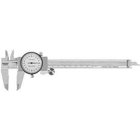 Vogel - Calibre pie de rey con comparador DIN 862 - Capacidad util 150 mm - Boca 40 mm - Lectura 0,01 mm