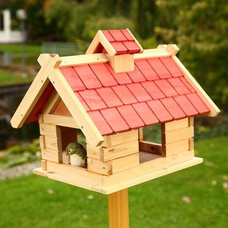 Vogelhaus Vögelhäuschen Holz Vogelfutterhaus Futterhaus XXL Vogelvilla Vogel