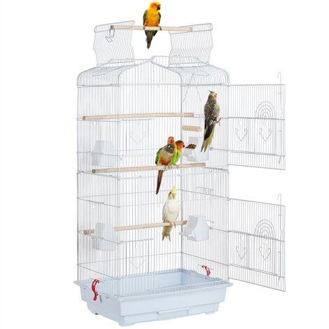 Vogelkäfig Vogelvoliere Kanarienvögel Käfig mit Ständer Metal Vogelbauer für Papagei Wellensittich finken