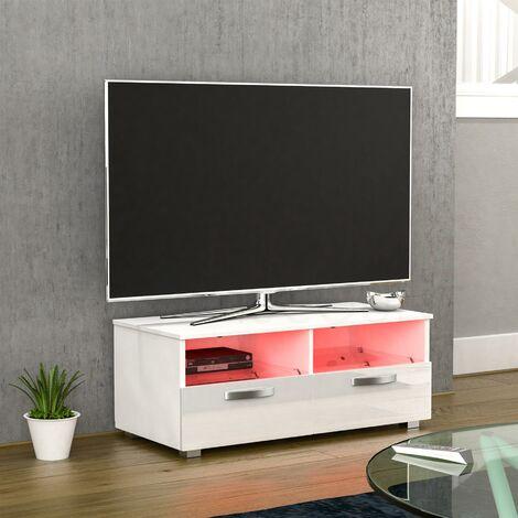 Vogue 2 Drawer LED TV Unit, White