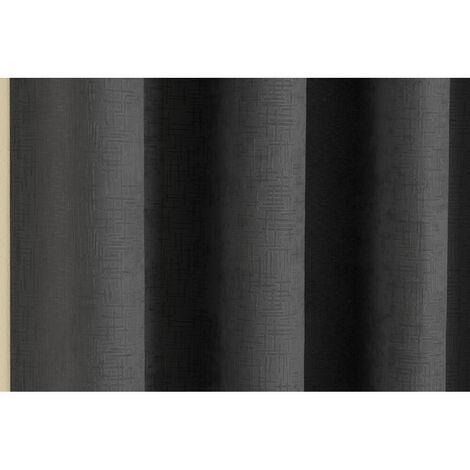 Vogue Blackout Curtains, Black