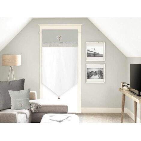 Voilage en coton - 70 x 200 cm - Tendresse - Blanc - Livraison gratuite