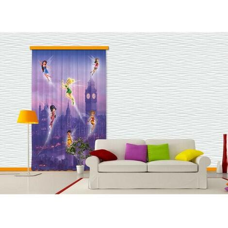 Voilage Fée Clochette à Londres Disney Fairies 140x245 cm