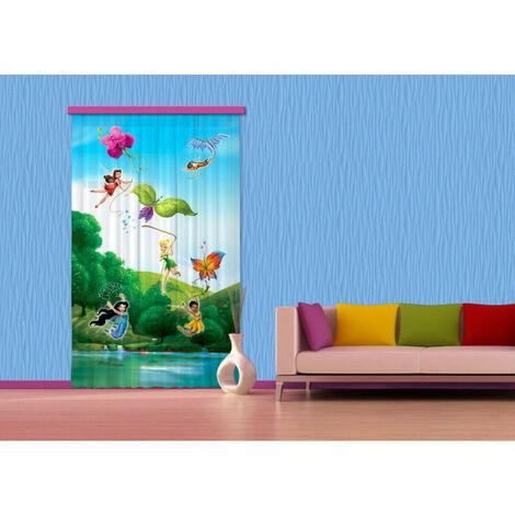 Voilage Fée Clochette Arc-en-ciel Disney Fairies 140x245 cm
