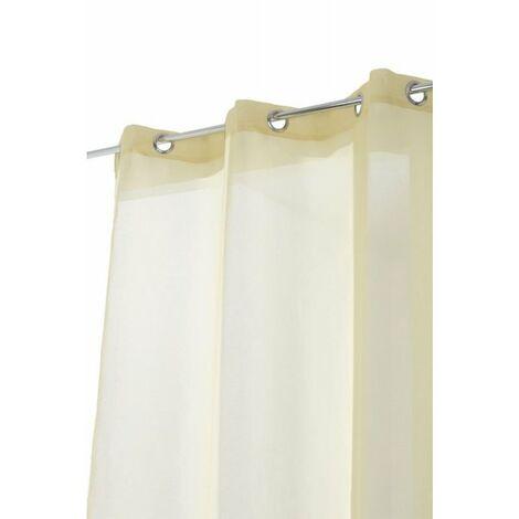 Voilage Simple Classique 6 Oeillets 140 x 240 cm Uni Jaune Clair Jaune