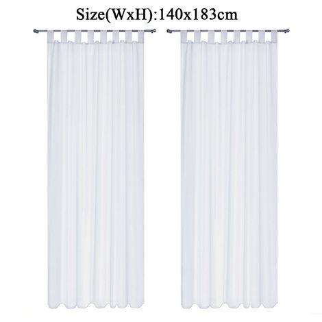 Voile Curtain 1pc 140x183cm White