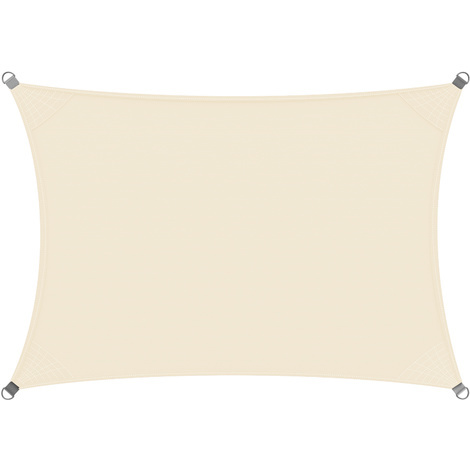 voile d 39 ombrage auvent oxford rectangulaire 2x4m cr me. Black Bedroom Furniture Sets. Home Design Ideas