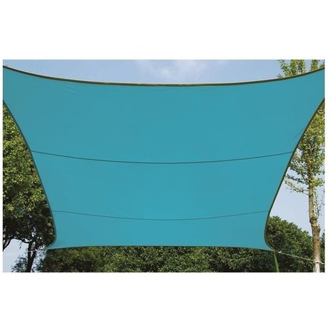 Voile d'ombrage - carré 3.6 x 3.6 x 3.6 m - bleu ciel