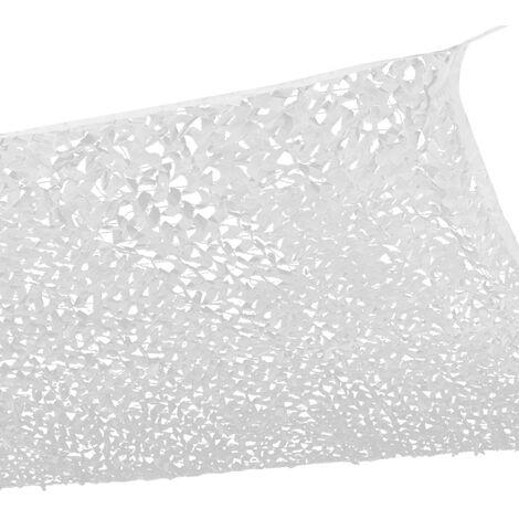 Voile d'ombrage carré design ombrière camouflage 4x4 m blanc