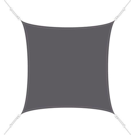 Voile d'ombrage carrée 3x3m Ardoise - Ardoise