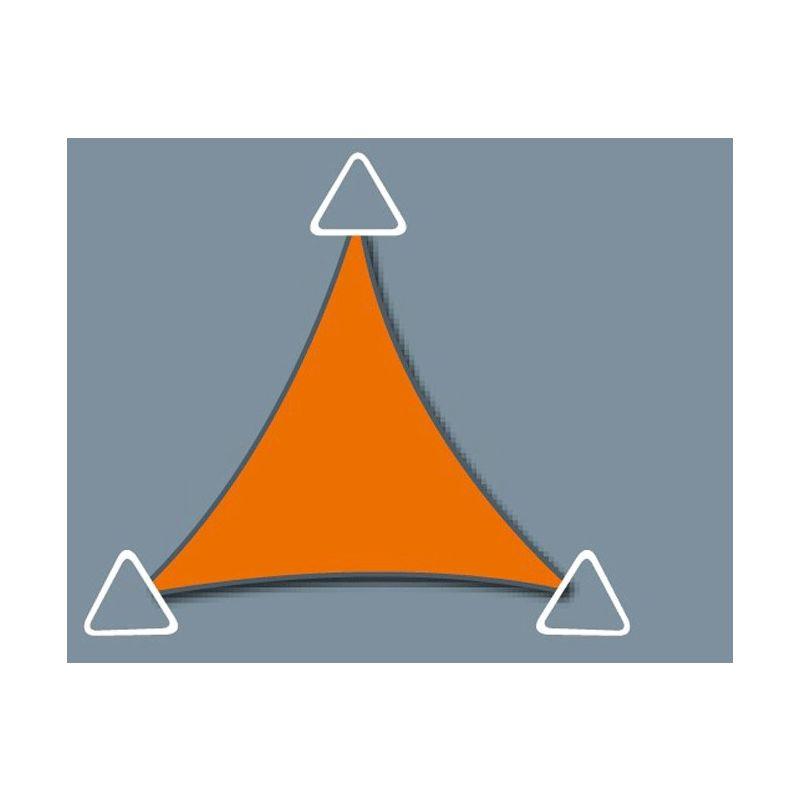 Voile d'ombrage imperméable de 5.9x5.9x5.9m format triangle à tendre | Terracotta - DIRECT FILET