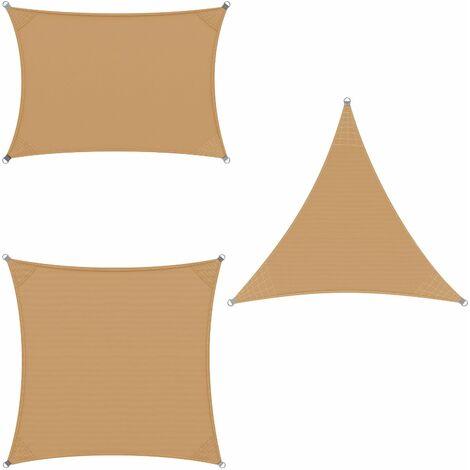 Voile d'ombrage DETEX tissu Oxford ou PEHD Auvent Jardin 3x3 4x4 5x5 2x4 3x4 m