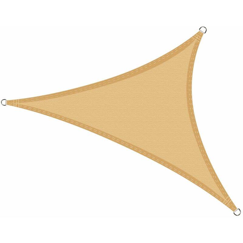 Voile d'ombrage imperméable Triangulaire 6 x 6 x 6 mètres pour Jardin & terrasse, Couleur Sable - COOL AREA