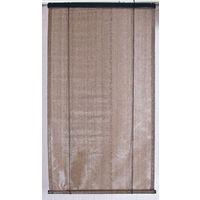 Voile d'ombrage pour pergola verticale à enrouleur Brun Havane Ajouré en polyéthylène tressé 165 g / m² anti-UV - Dim : 120 x 180 cm