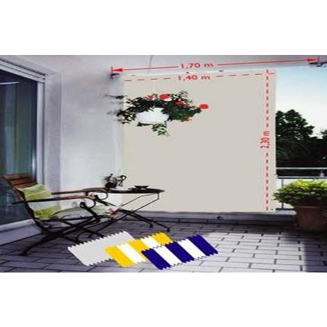 Voile d'ombrage pour pergola verticale Gris Clair avec 8 crochets de guidage en polyester anti-UV - Dim : 230 x 140 cm