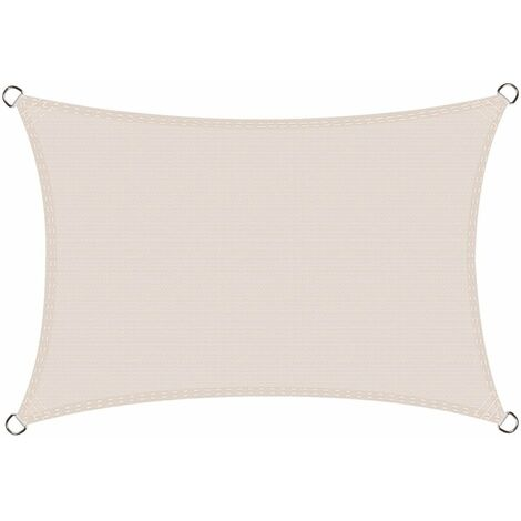 Voile d'ombrage rectangulaire 2,5 x 4 mètres Une Protection des Rayons UV, résistant et Respirant, Couleur Graphite